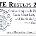 GATE Results 2017 Released Exam Cut off Merit List Rank Wise