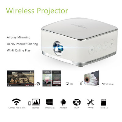 Wireless Mini Mobile Projector For Samsung Galaxy S7 Edge