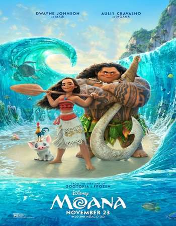 Poster Of Moana 2016 English 700MB HDTS x264 Free Download Watch Online downloadhub.net