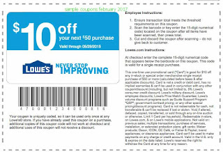 Lowes Home Improvement coupons february