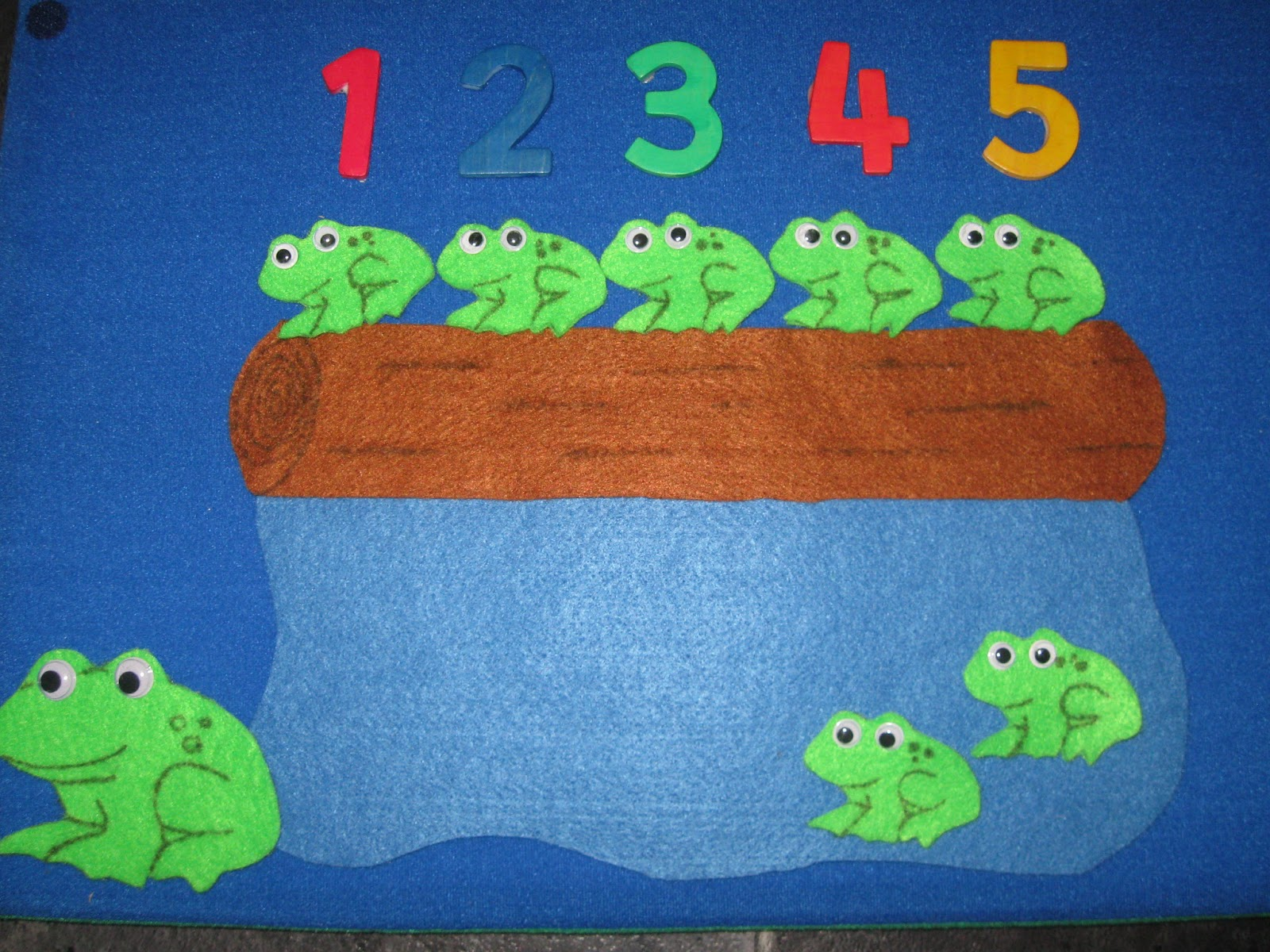 5 Little Speckled Frogs Felt Set Pre School Childcare