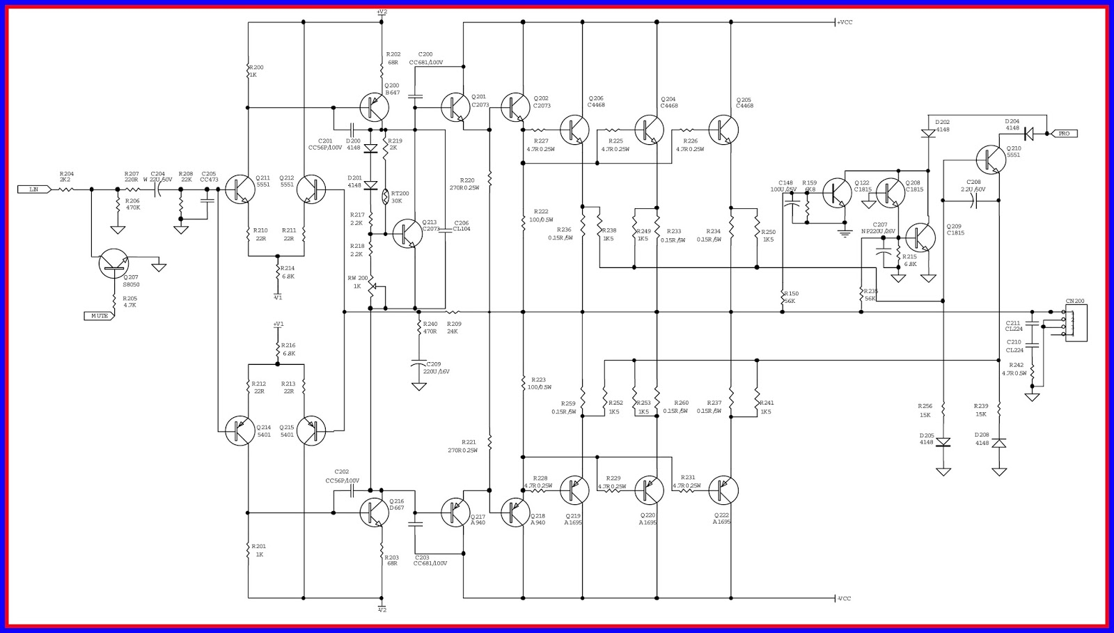 electronic equipment repair centre infinity 1300a car amplifier trouble shooting and circuit diagram [ 1600 x 909 Pixel ]
