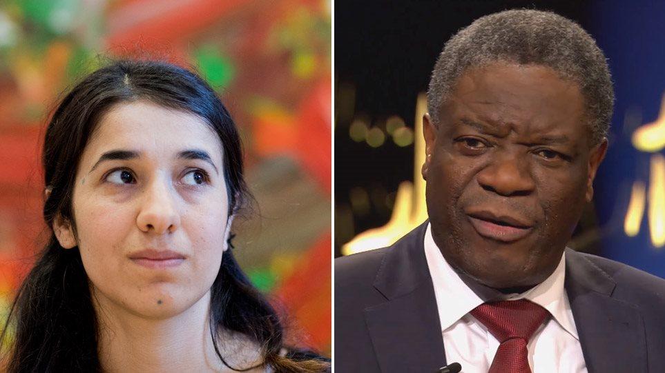 Νόμπελ Ειρήνης: Ο γυναικολόγος και η «σκλάβα» του Ισλαμικού Κράτους μοιράστηκαν το βραβείο! οι νησιώτες ακόμα το περιμένουν!