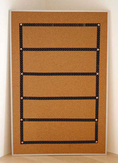 Step Two - DIY Cork Board Craft Ideas - How to Turn a Cork Board into a Personalized Weekly To Do List For Your Office