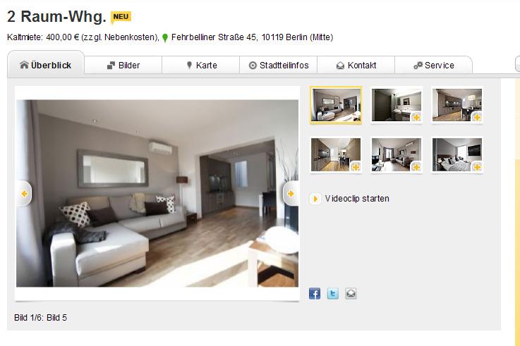 2 raum whg kaltmiete 400 00 zzgl nebenkosten fehrbelliner. Black Bedroom Furniture Sets. Home Design Ideas
