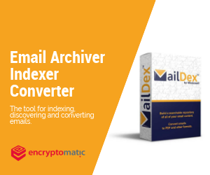 "MailDex software box, ""Email Indexer, Converter"""