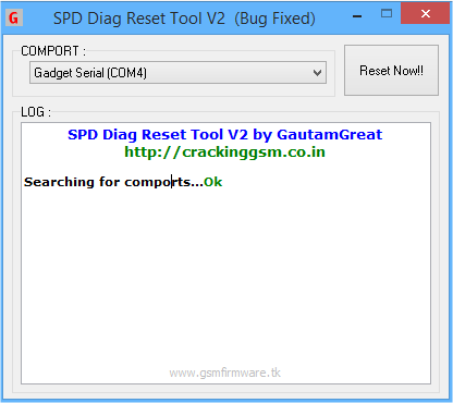 SPD Diag Reset Tool V2 (Bug Fixed) by GautamGreat - GSM FIRMWARE