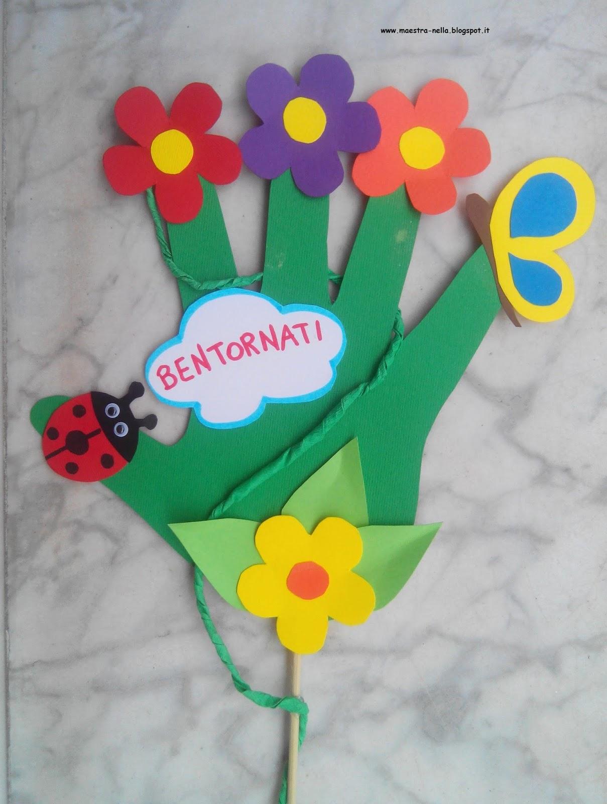 Maestra nella con le mani for Idee per cartelloni scuola infanzia