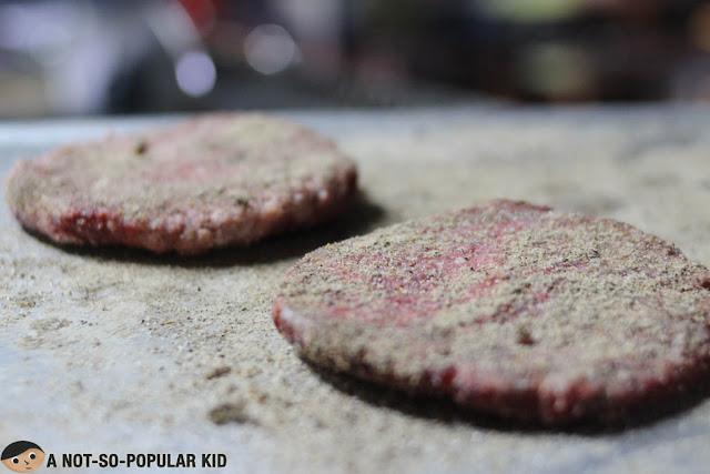 Homemade beef patties of The Grub