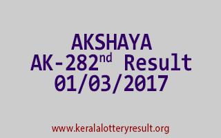 AKSHAYA Lottery AK 282 Results 1-3-2017