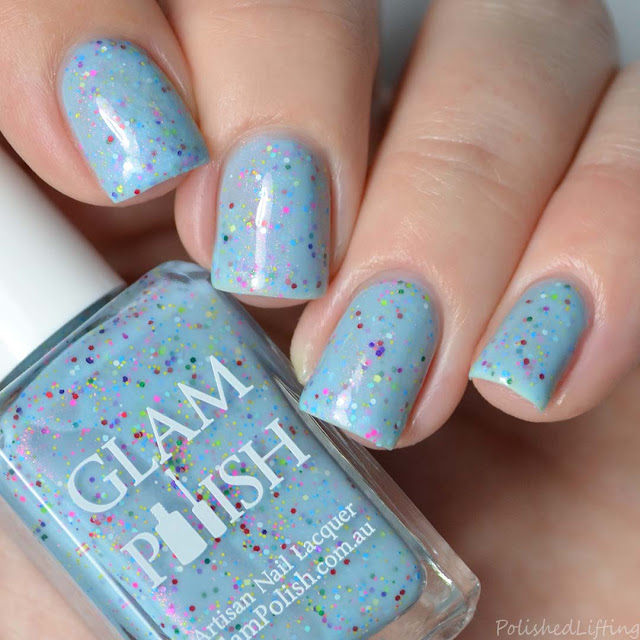 blue rainbow nail polish