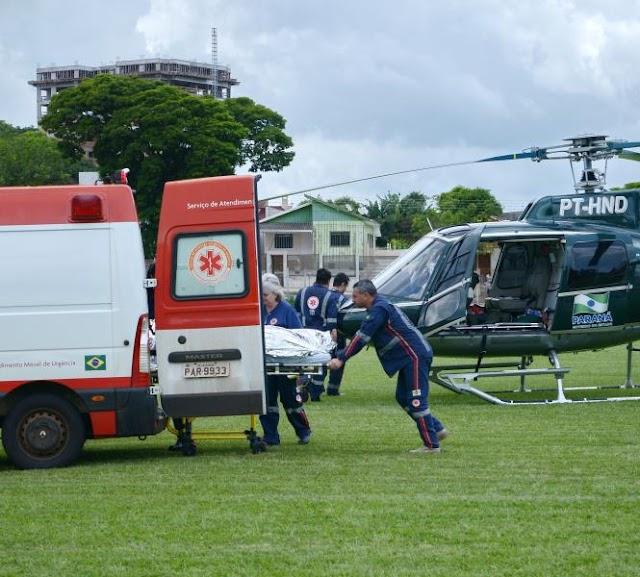 Faxinal-Rapaz é resgatado após cair de cachoeira e ser arrastado por 30 metros