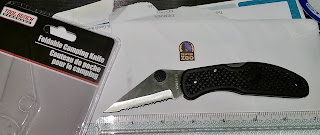 sharpen this Dollar tree camping knife to keep in your pocket for protection 2inch blade teeth weapon