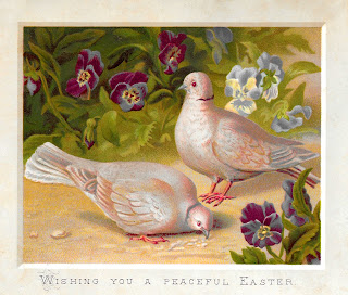 easter dove bird flowers printable greeting crafting design images
