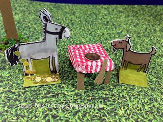stampin up miniatur märchenland tischlein deck dich goldesel knüppel aus dem sack