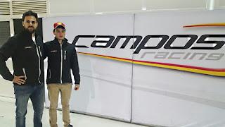 O chefe de equipe Adrian Campos Jr. (esquerda) e o brasileiro Thiago Vivacqua (Divulgação)