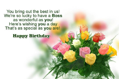 Best Birthday Wishes | Quotes | Messages and Images for Your Boss