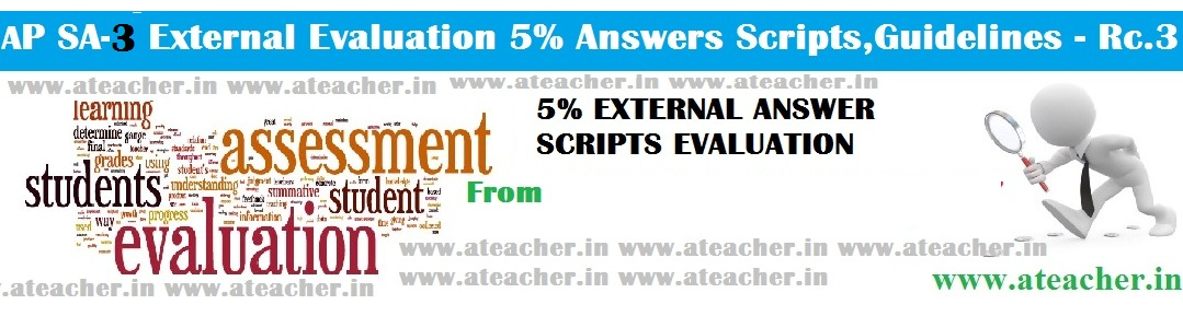 AP SA 3 Exam Papers External 5% Answer Scripts Evaluation Guidelines