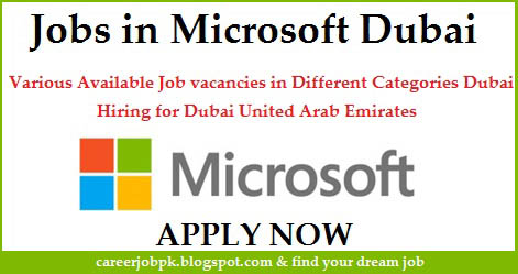 Jobs vacancy in Microsoft Corporation Dubai
