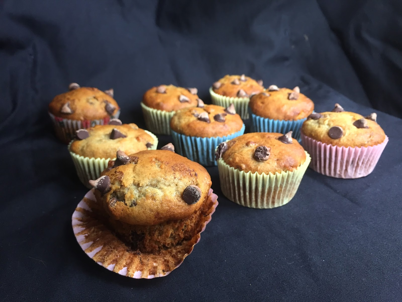 Vegan Chocolate Chip Banana Muffins