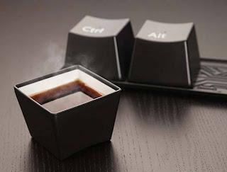 diseño creativo de taza teclado