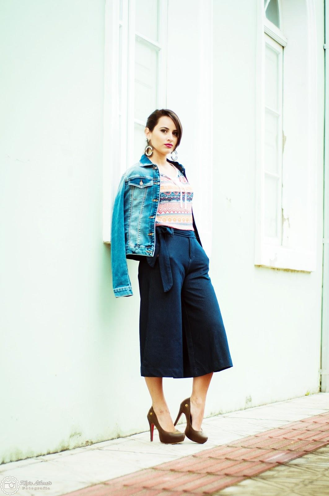 Calça culottes, calça curta, como usar calça culotte, look do dia, Kerolyn Adriano, Tom Sobre Tom, blog de moda