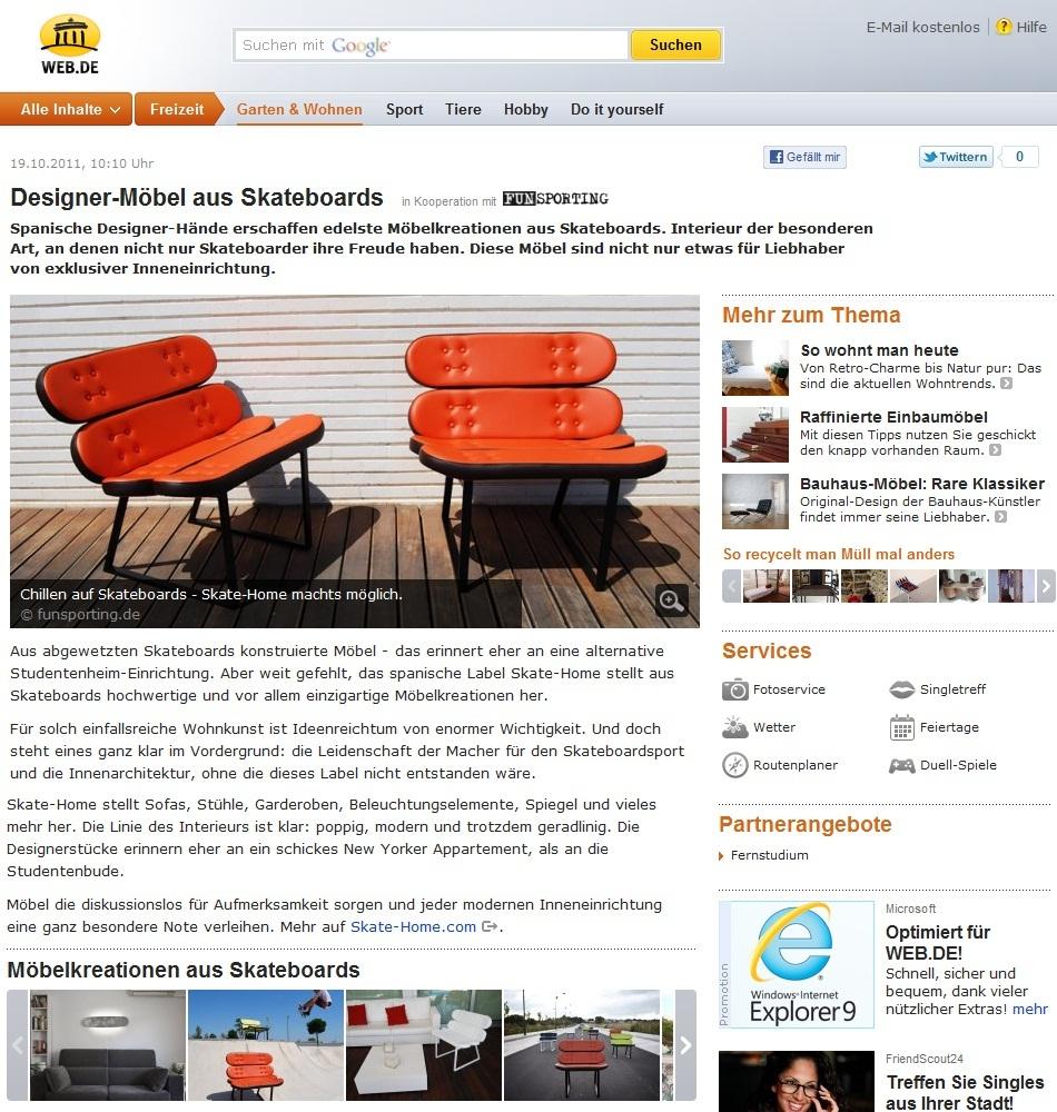 Skate home deutschland designer m bel aus skateboards - Skateboard mobel ...