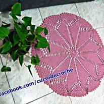 tapete de croche redondo rosa quartzo româmtico edinircrochevideos