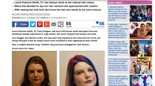 Mail Online Laura Pearson-Smith Rainbow Hair