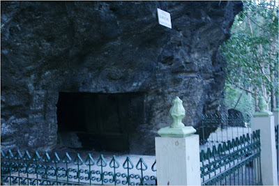 Mystic atmosphere in cave Selarong