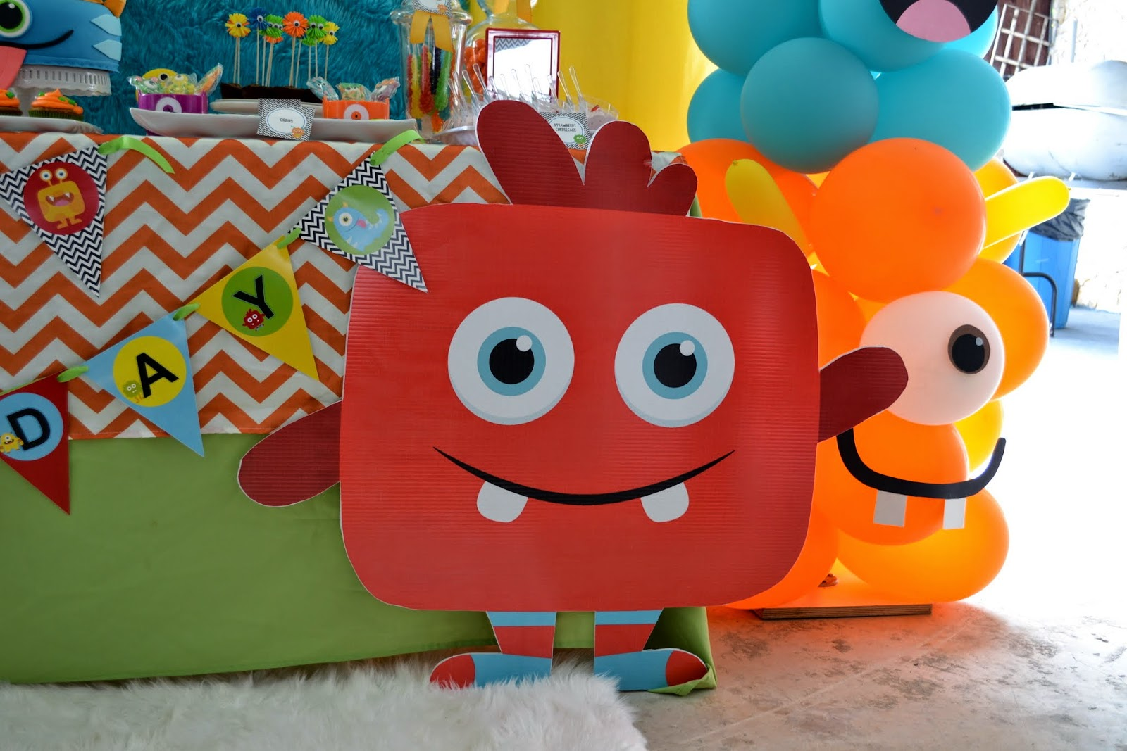 Partylicious little monster birthday bash for B day decoration photos
