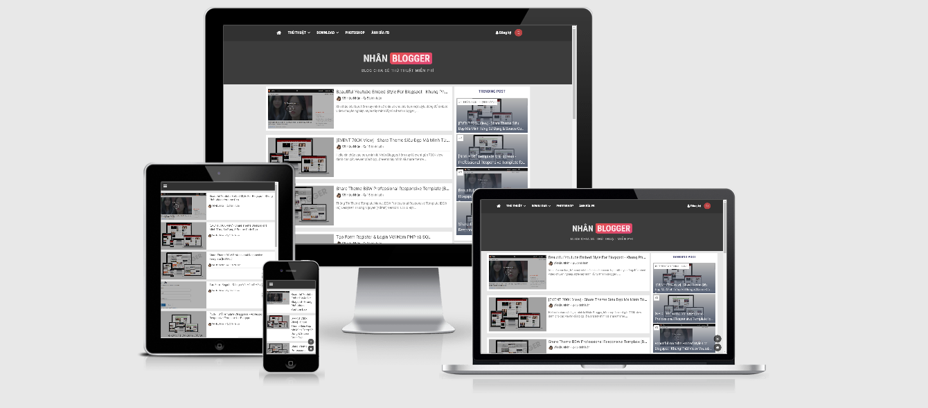 [NBG = 04] - NhanBlogger Magazine Responsive Template For Blogspot