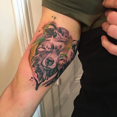 biceps bear tattoo