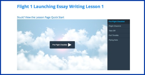 Online writing lessons for homeschool