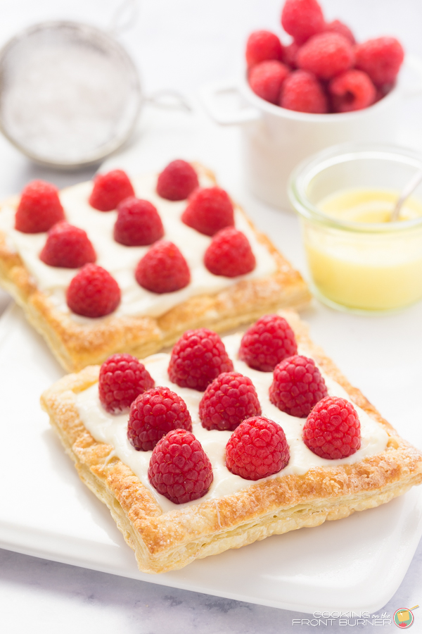 Lemon Raspberry Tarts | Cooking on the Front Burner