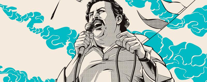 Ilustraciones biográficas de Pablo Escobar