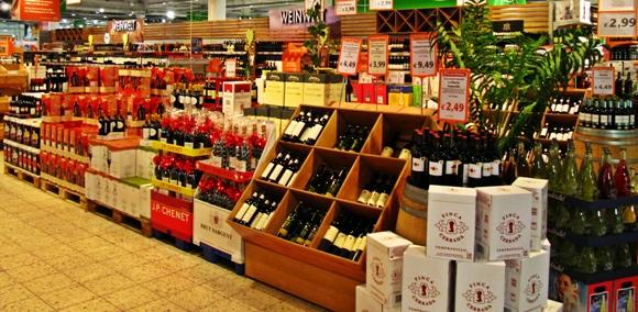 75% aller Weine werden über Supermärkte und Discounter verkauft.