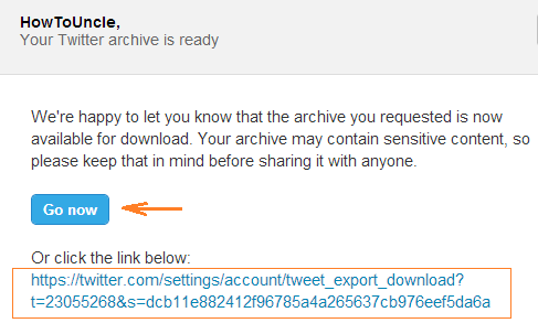 link to your tweets archive