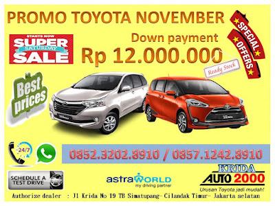 Promo Toyota Avanza & Toyota Sienta DP   MURAH Akhir Tahun