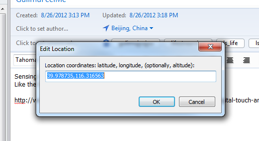 Xiaolong's Blog: Geocoder page for evernote desktop location support