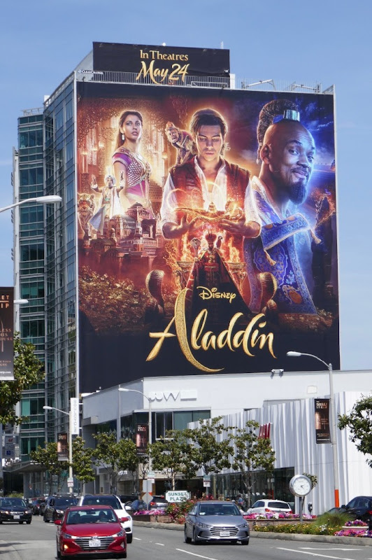 Aladdin film billboard