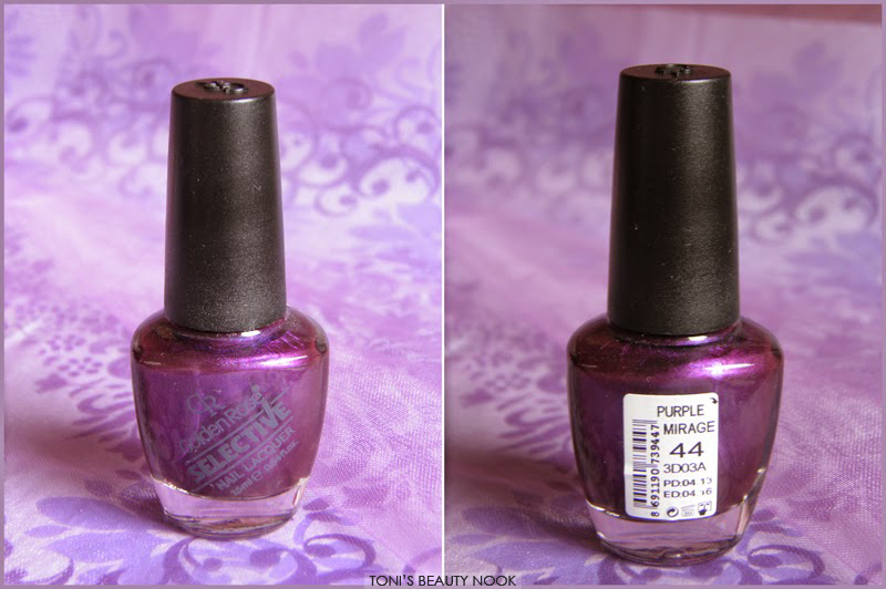 golden rose selective nail polish purple mirage