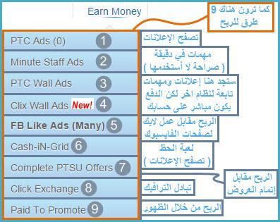 شرح سهل وبسيط لجني الاموال ب 8 طرف منوعة من موقع cashnhits