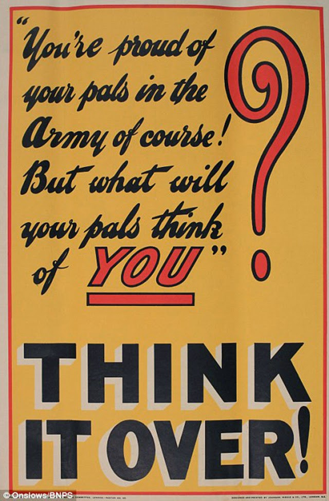19 Fascinating WWI Posters Urging Men to Enlist ~ vintage everyday