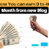 Learn How You can earn 0 to 400$ Per Month from new Blog - Advance and Unique Tips