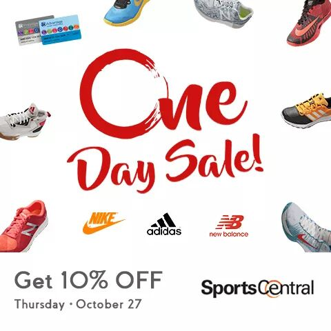 31371331c66 Get 10% OFF on all items when you shop at the Sports Central One Day Sale on  October 27