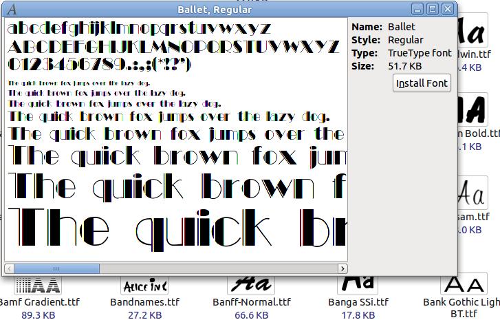 installing font  ttf on linux ubuntu | i-CAFE