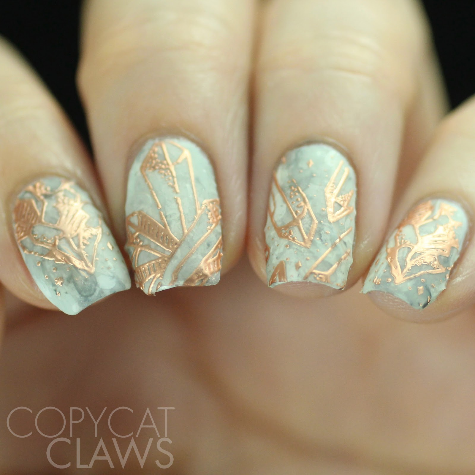 Copycat Claws: Bundle Monster Rose Gold Crystal Nail Wraps Review