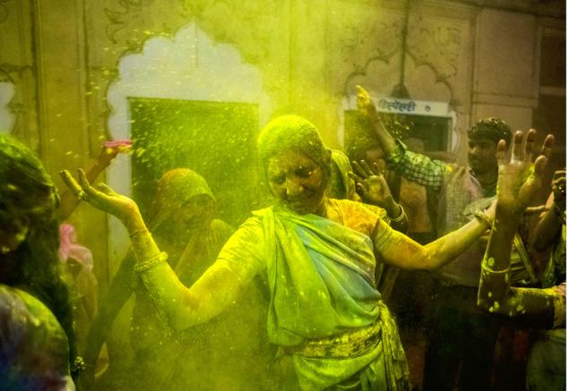 Holi India 2019 picture Barsana Mathura Vrindavan plan