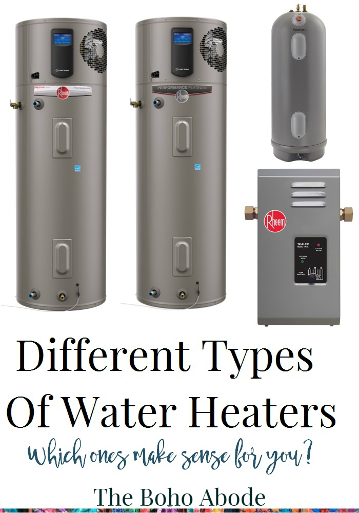Different Types Of Water Heaters - The Boho Abode